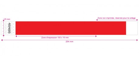 TYVEK® - avec marquage NOIR - 25mm