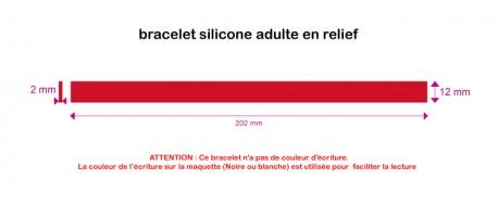 Silicone - en relief - ADULTE (202*12*2mm)