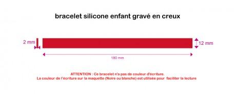 Silicone - gravé creux - ENFANT (180*12*2mm)