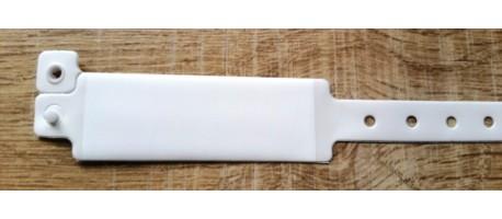 Bracelet hopital adulte blanc avec panneau