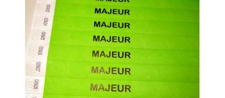 "Tyvek® déjà marqué ""MAJEUR"""