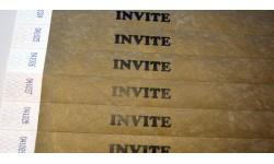 """Tyvek® déjà marqué """"INVITE"""""""