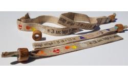 Bracelet en LIN avec bague en bambou